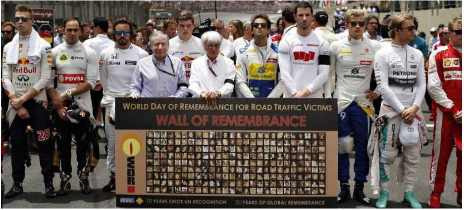 The World Day of Remembrance for Road Traffic Victims (WDR) is commemorated on the third Sunday of November each year – to remember the many millions killed and injured on the world's roads, together with their families, friends and many others who are also affected. It is also a Day on which we thank the emergency services and reflect on the tremendous burden and cost of this daily continuing disaster to families, communities and countries, and on ways to halt it.